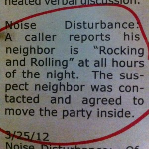 Excessive 'Rocking and Rolling'
