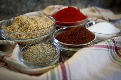 Ingredients for chipotle spice rub