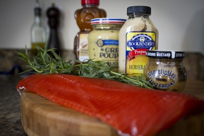 Ingredients for Grilled Salmon served with a Tarragon Mustard Sauce