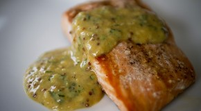 Grilled Wild Alaska Salmon with Tarragon Mustard Sauce